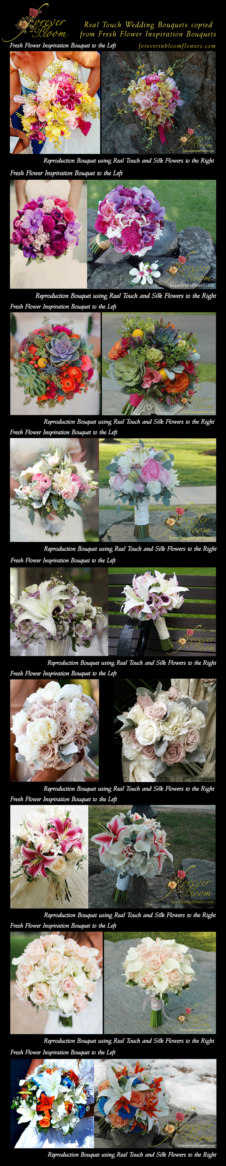 Forever In Bloom Specializes In Custom Real Touch Silk Flowers For